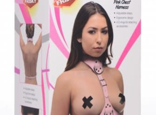 Frisky Miss Behaved Pink Chest Harness