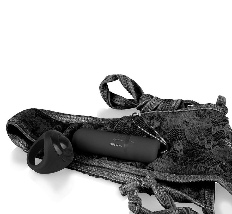 SCREAMING O RECHARGEABLE PANTY VIBE BLACK