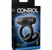 Pipedream CONTROL by Sir Richard's Vibrating Silicone Cock & Ball C-Ring