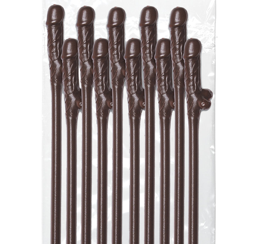 Dicky Sipping Straws-Brown 10pc