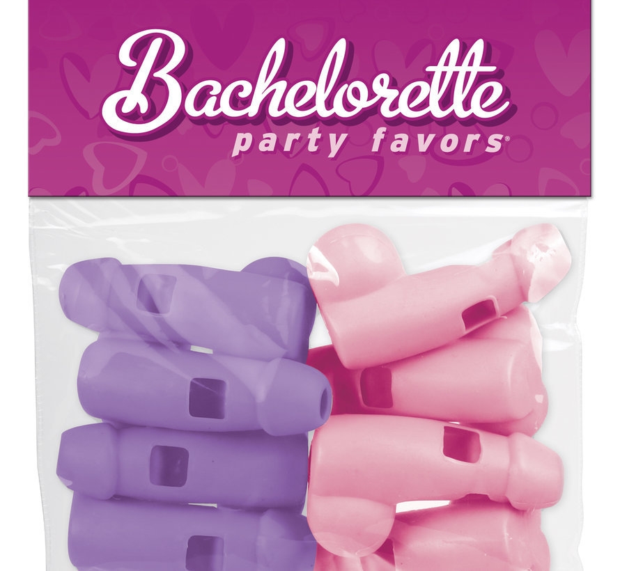 Bachelorette Party Favors Pecker Whistles  Pink & Purple
