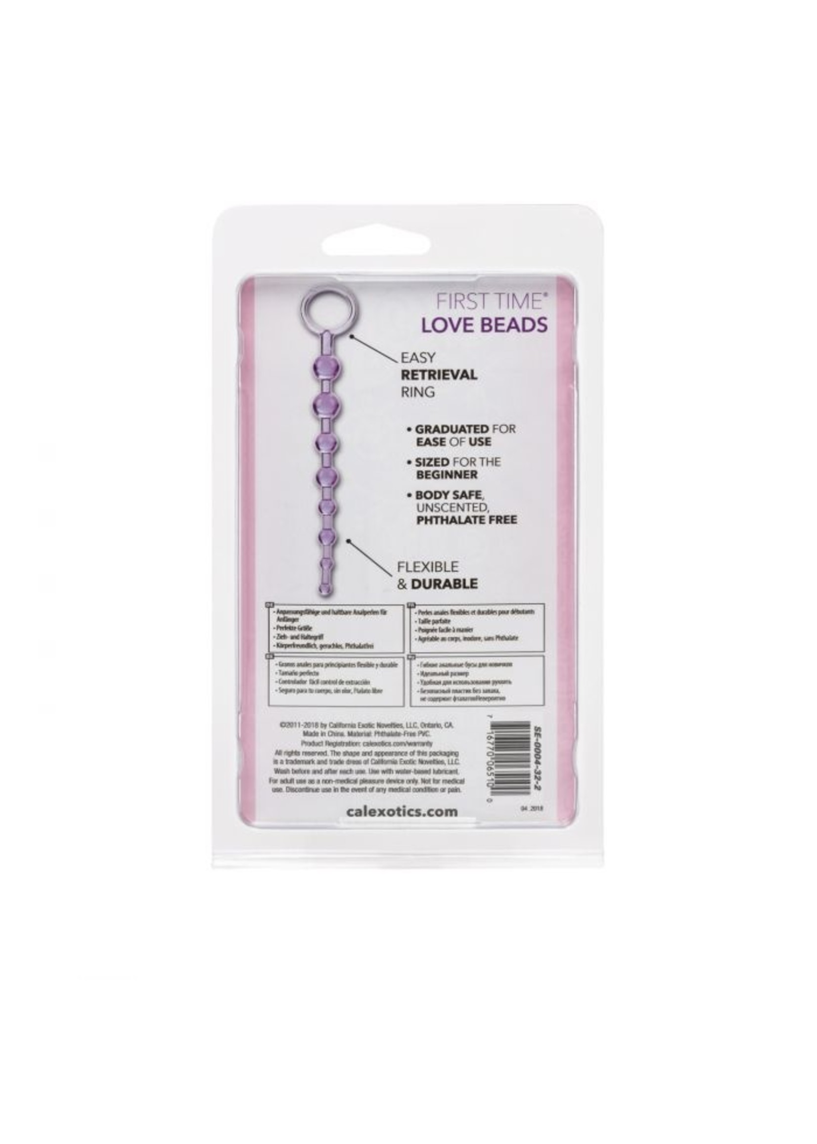 Cal Exotic Novelties First Time Love Beads Purple