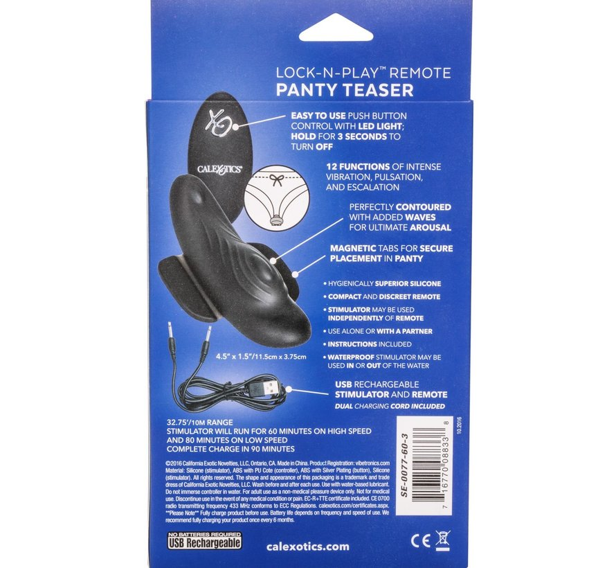 Lock-N-Play Wristband Remote Panty Teaser