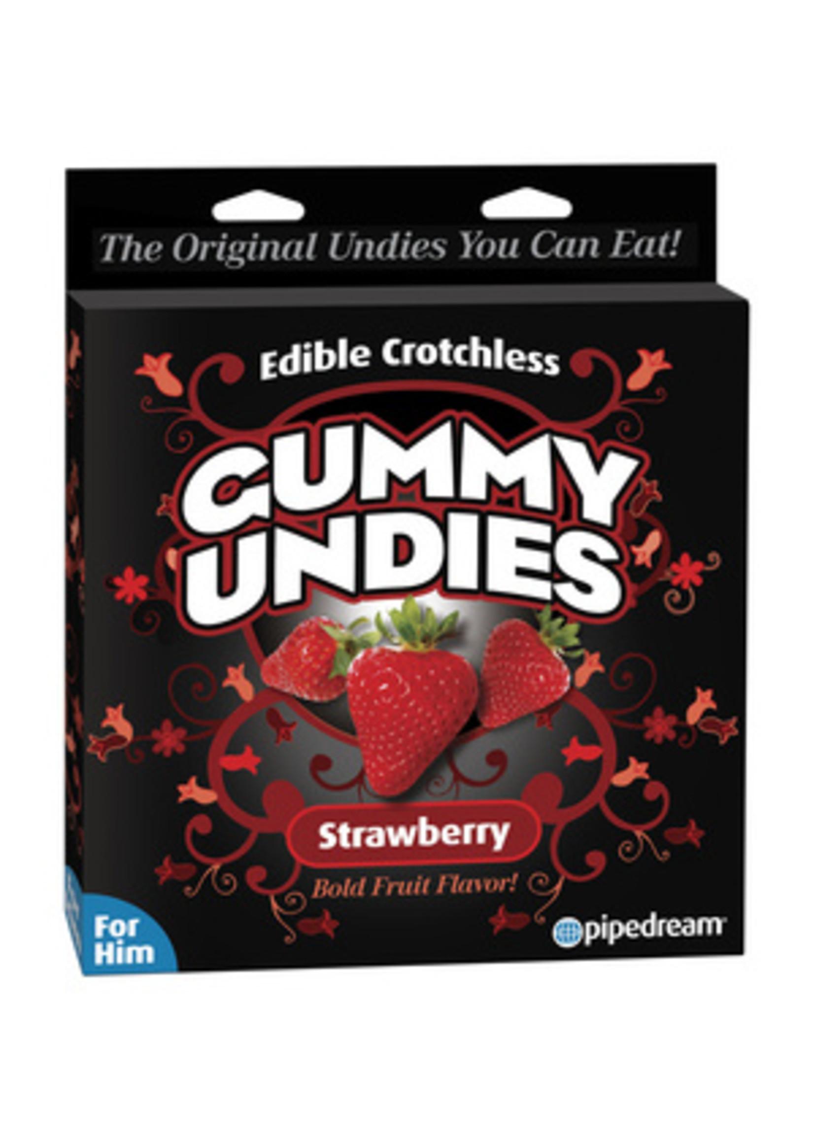 Pipedream Edible Male Gummy Undies-Strawberry
