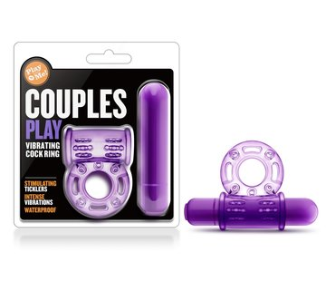 Blush Novelties Play With Me Vibrating C Ring Purp