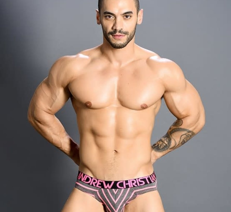Physical Brief w/ Almost Naked Neon Pink/ Grey
