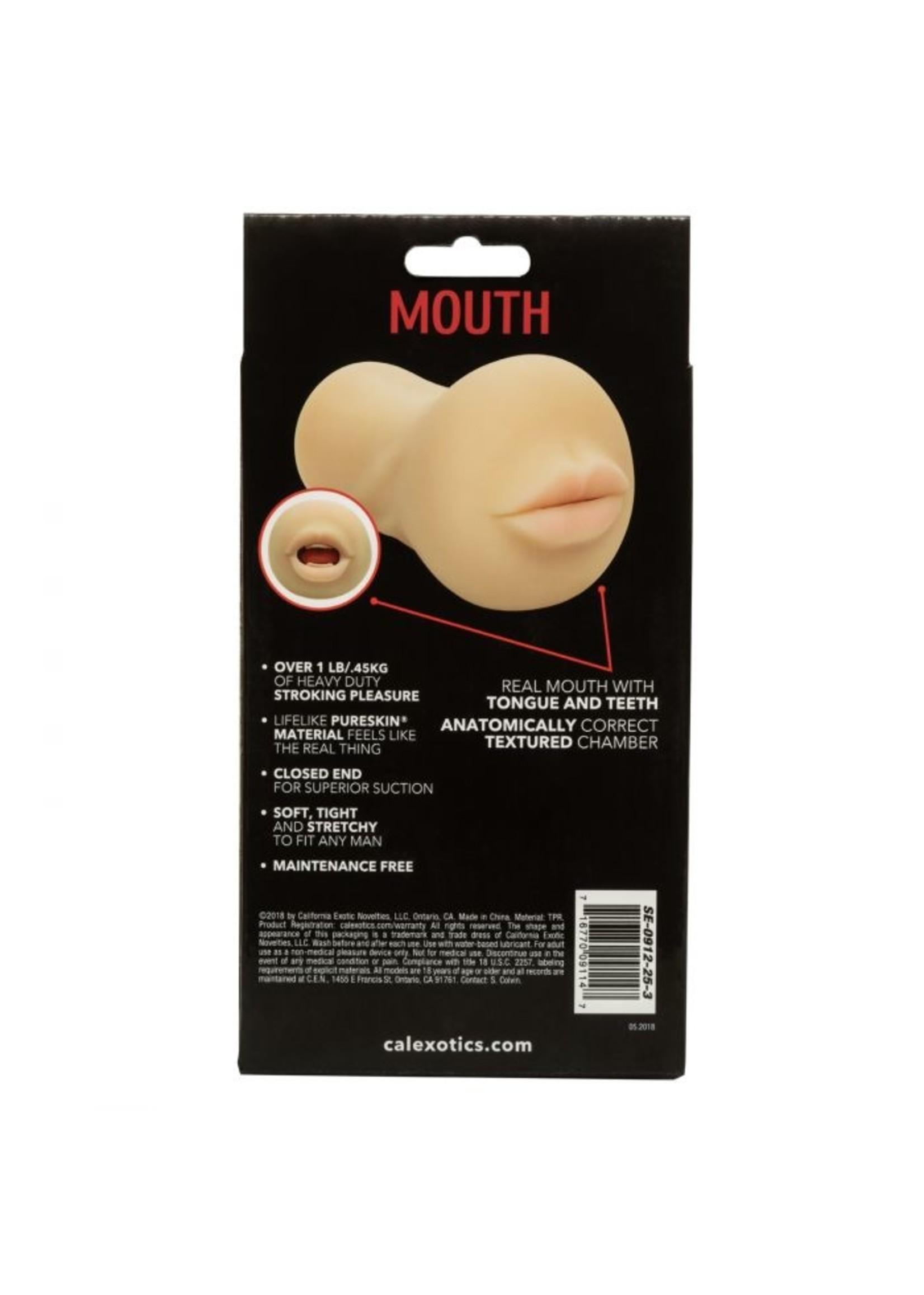 Cal Exotic Novelties Stroke It Mouth- Ivory