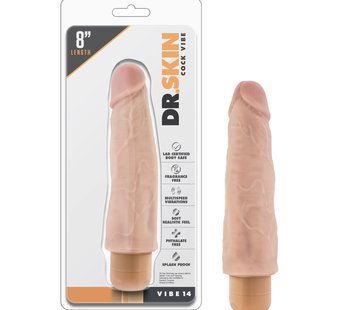 Blush Novelties Dr. Skin Cock Vibe 14 8 in. Beige