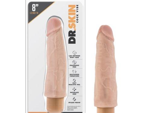 Dr. Skin Cock Vibe 14 8 in. Beige