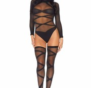 Leg Avenue Bodysuit And Thigh Highs