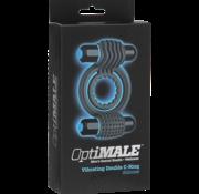 Doc Johnson OptiMALE - Vibrating Double C-Ring - Slate