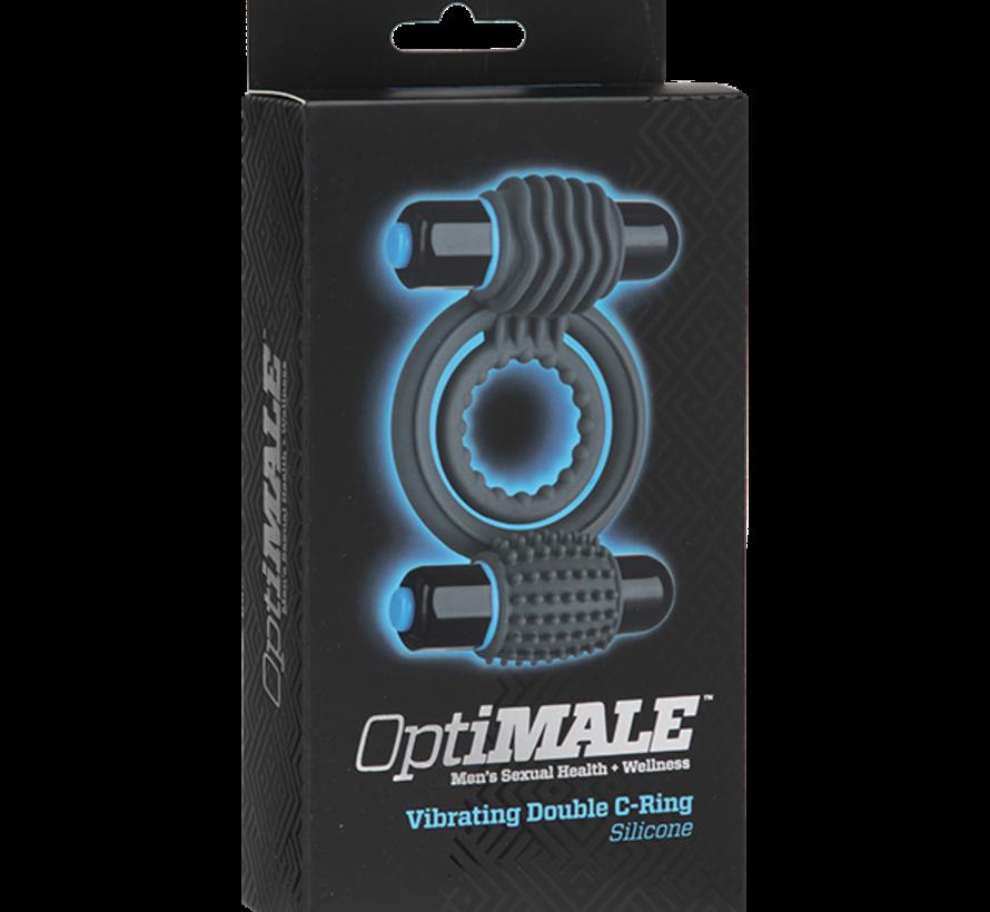 OptiMALE - Vibrating Double C-Ring - Slate
