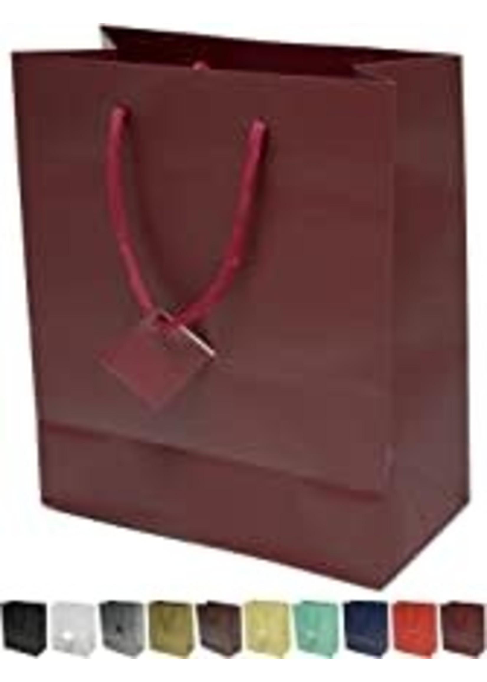 Burgundy Matte Gift Bag Sm single