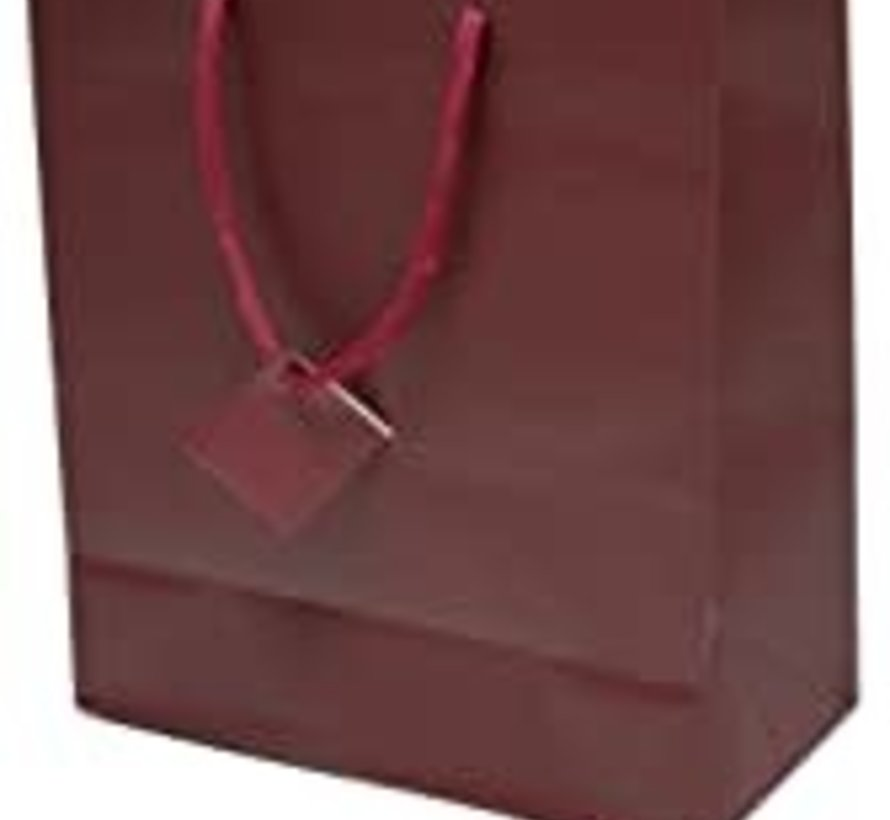 Burgundy Matte Gift Bag Sm single