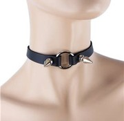 """Funk Plus 1/2"""" Wide O-ring Choker with Spike detail"""
