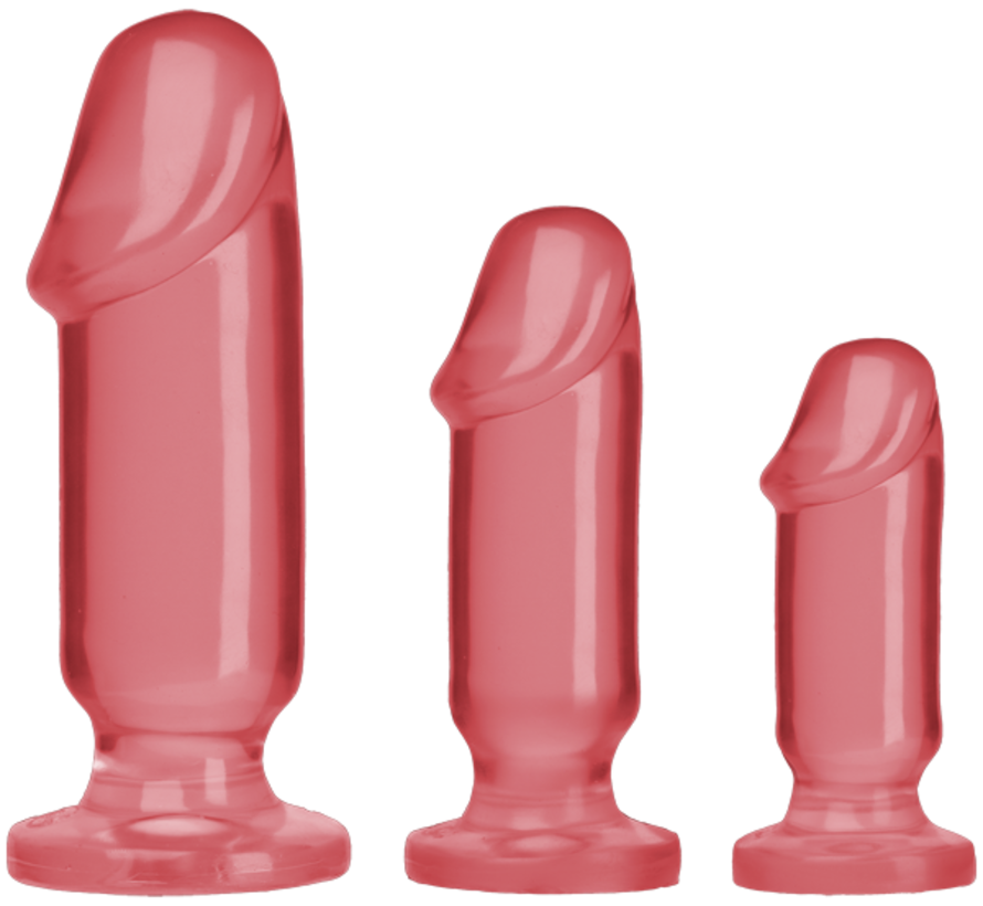 Crystal Jellies Anal Starter Kit-Pink
