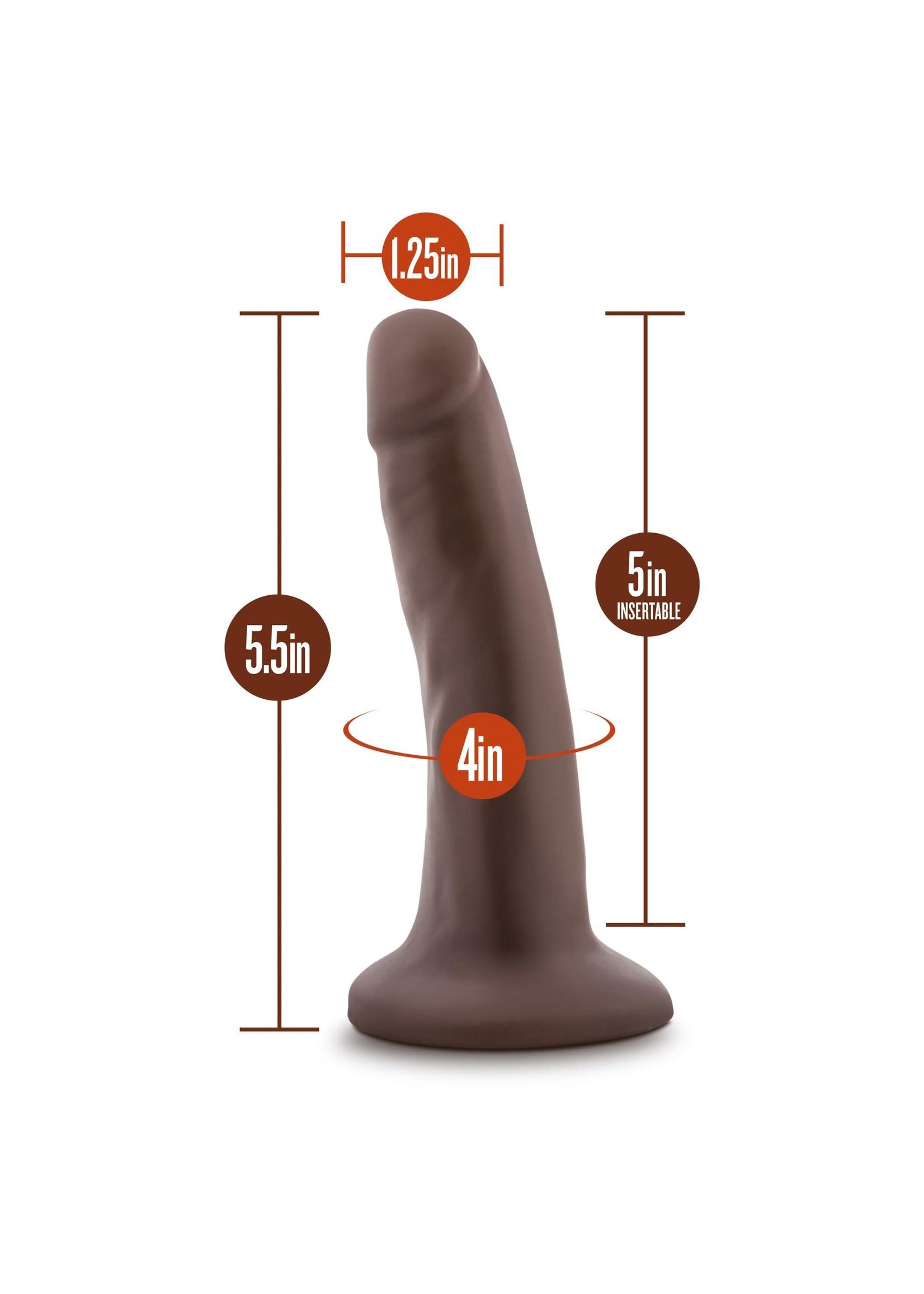 "Blush Novelties Dr. Skin 5.5"" Cock Chocolate"