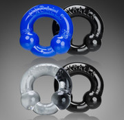 Oxballs Ultraballs 2-Pack Cockring Clr/Blk