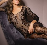 Coquette Crotchless Body Stocking Black OS