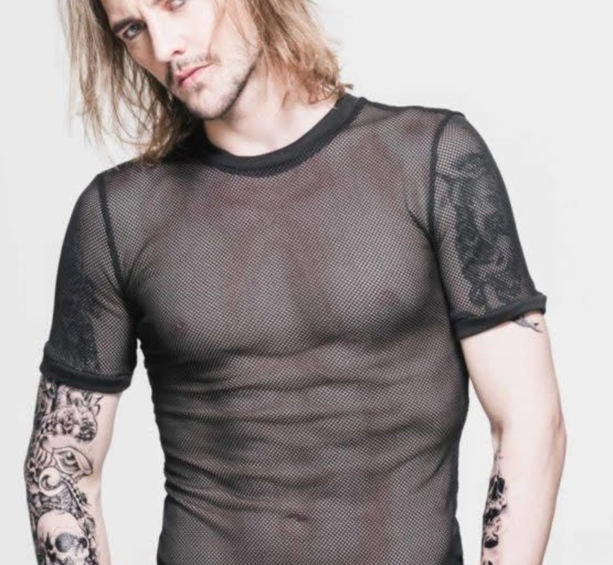 Punk Mesh T-Shirt Black