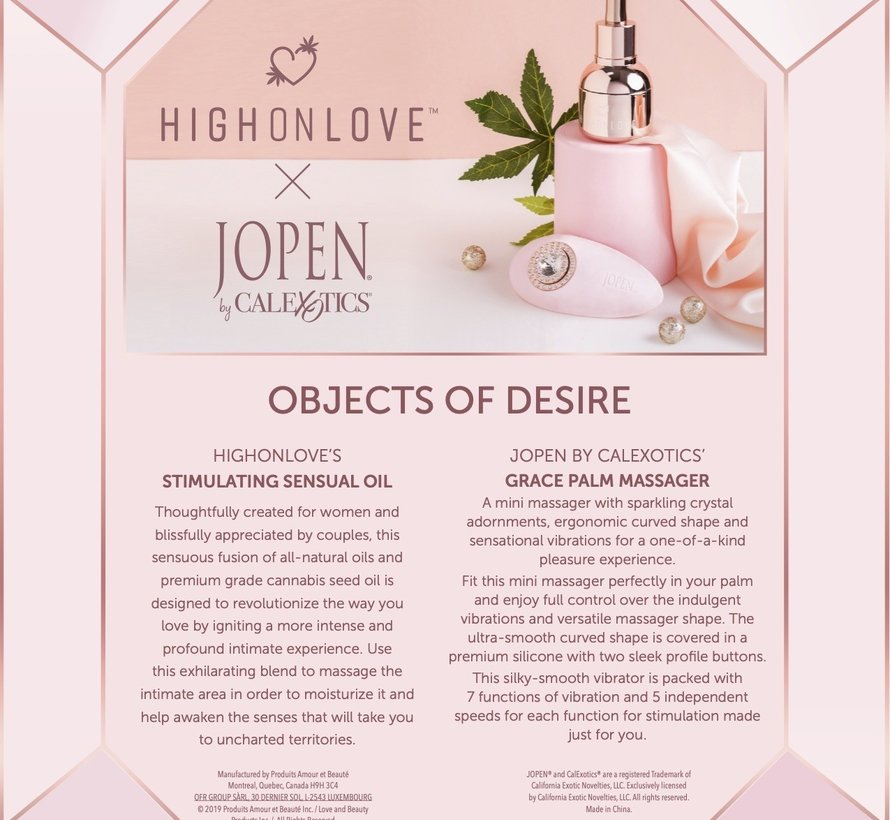 High On Love x Jopen  Objects of Desire Gift Set