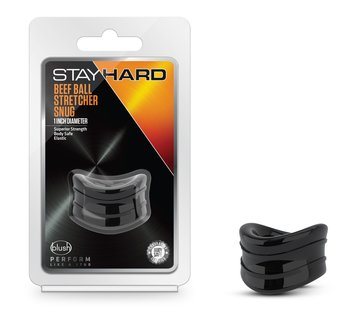Stay Hard Stay Hard - Beef Ball Stretcher Snug - 1 Inch Diameter - Black