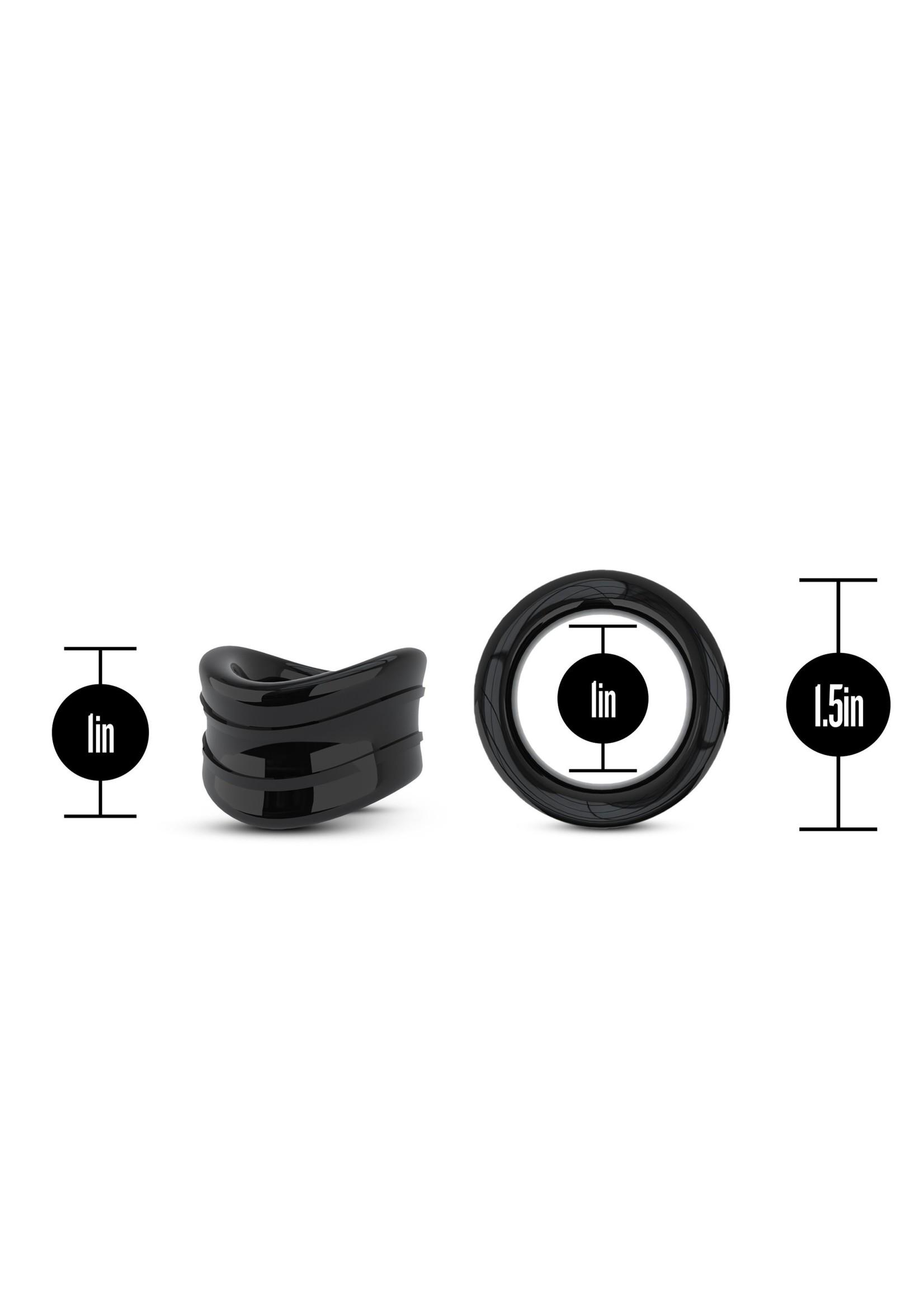 Stay Hard Stay Hard - Beef Ball Stretcher Snug - 1 Inch Diameter - Black