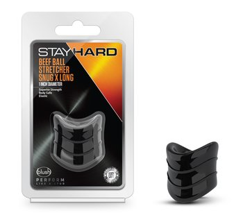 Stay Hard Stay Hard - Beef Ball Stretcher Snug X Long - 1 Inch Diameter - Black