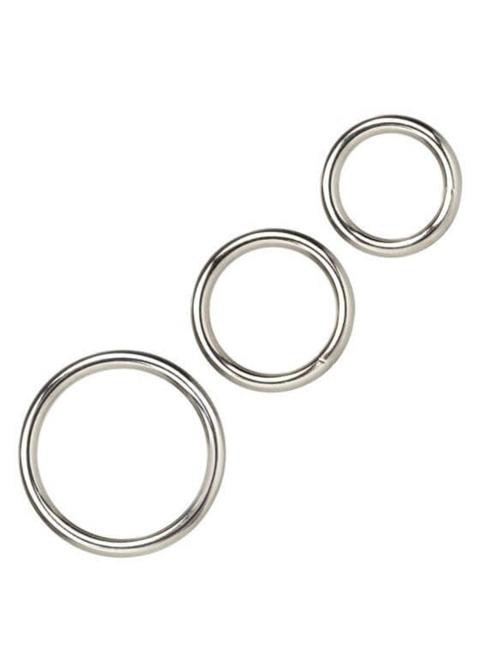 Cal Exotic Novelties Silver Ring Set