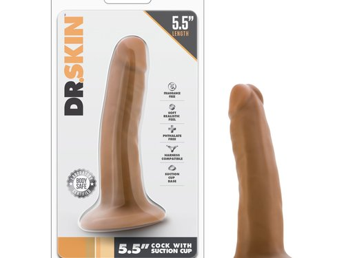Dr. Skin Dr. Skin - 5.5 Inch Cock With Suction Cup - Mocha