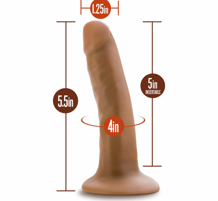 Dr. Skin - 5.5 Inch Cock With Suction Cup - Mocha