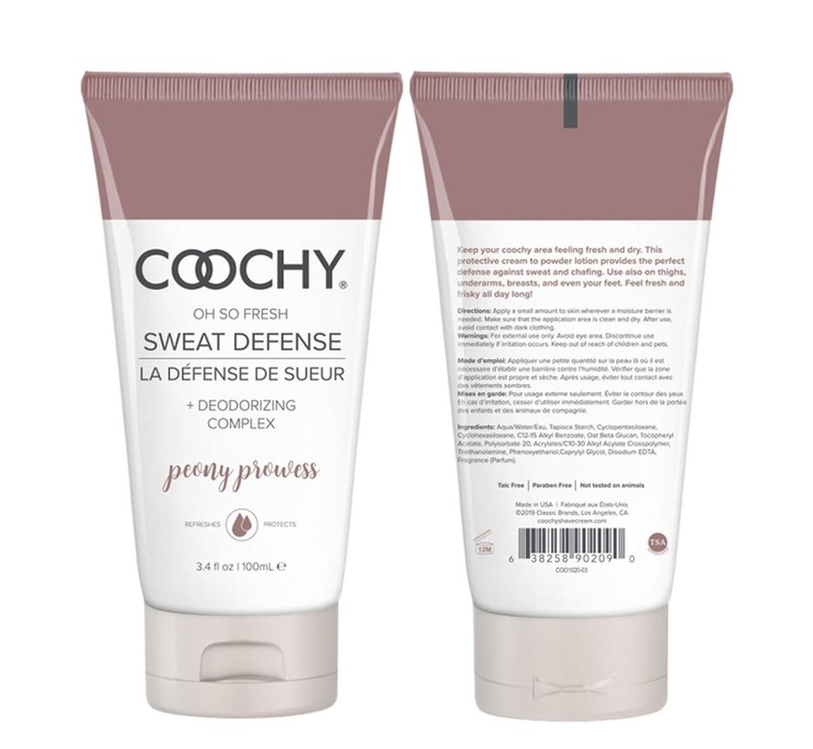 Coochy Oh So Fresh Sweat Defense-Peony Prowess 3.4oz