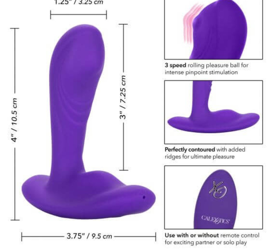 Silicone Remote Pinpoint Pleaser-Purple