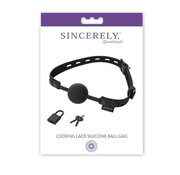 Sportsheets Sincerely Locking Lace Silicone Ball Gag