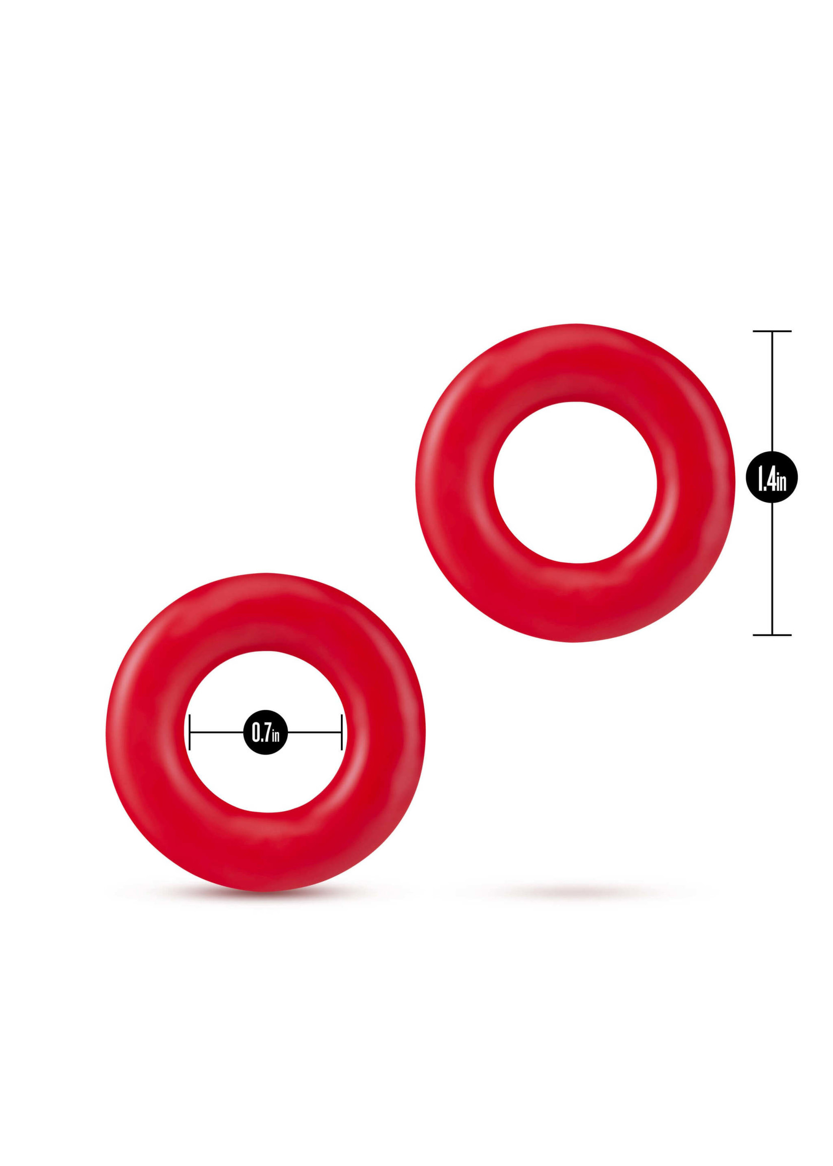 Stay Hard Donut Rings Red