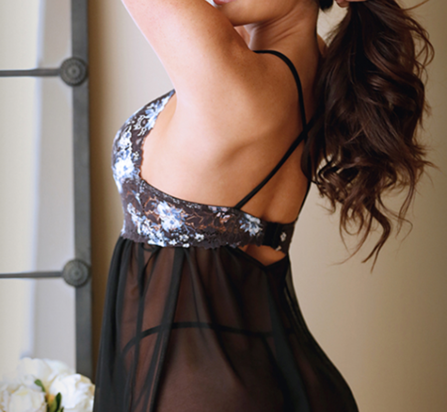 Lillian Floral Lace Babydoll