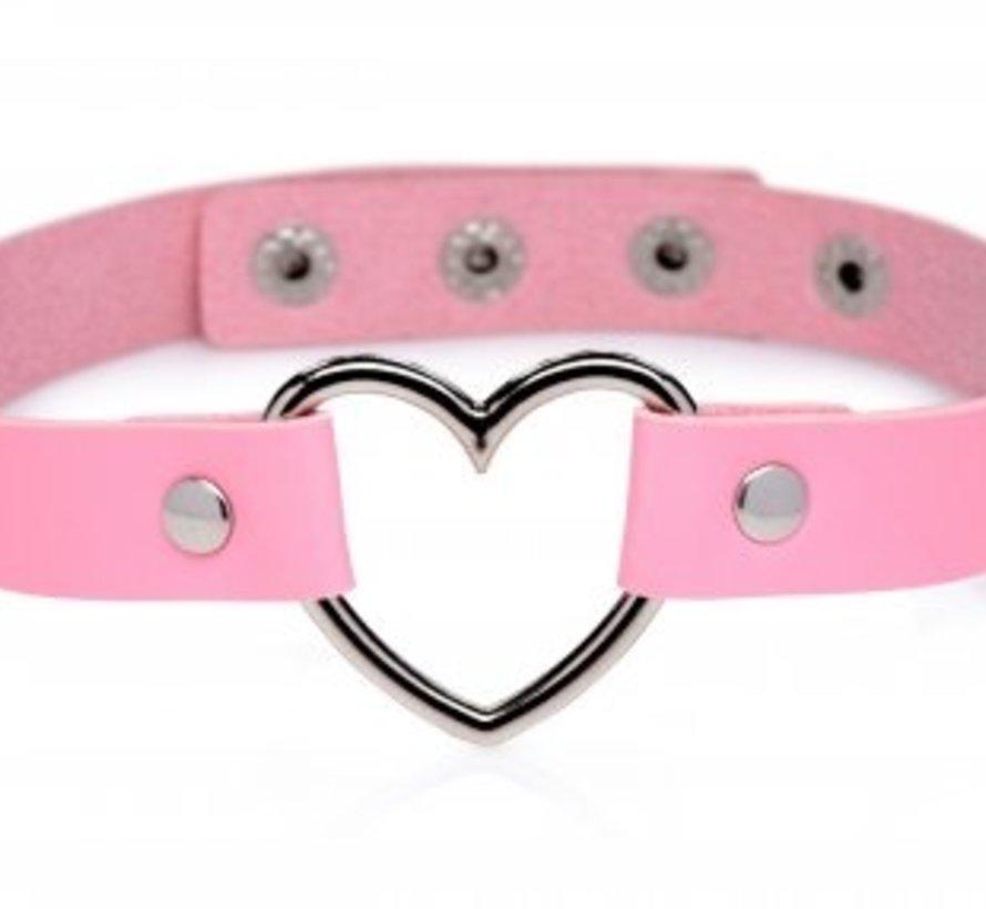 Sweet Heart Chrome Heart Pink Choker