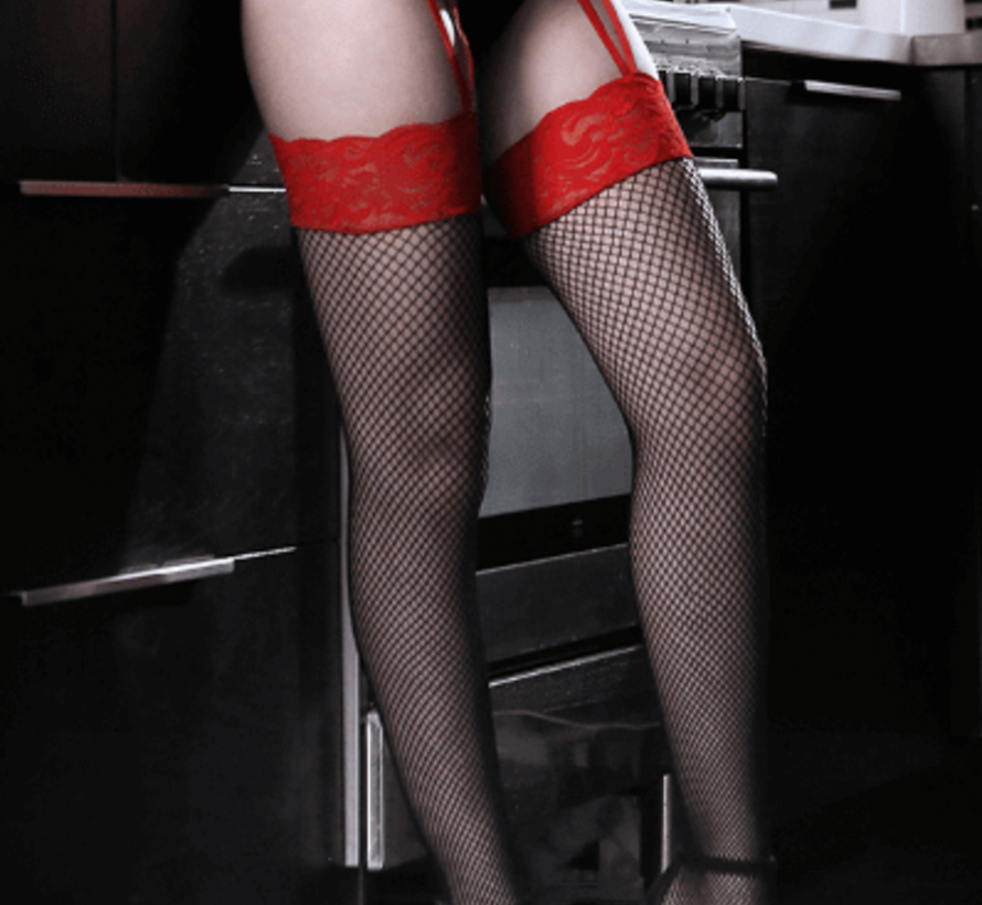 I Dare You Lace Gartered Stockings O/S