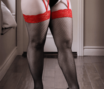 Sheer Fantasy I Dare You Lace Gartered Stockings QS