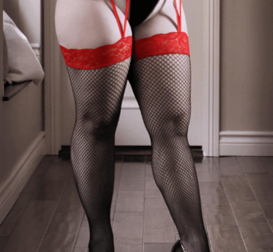 I Dare You Lace Gartered Stockings QS