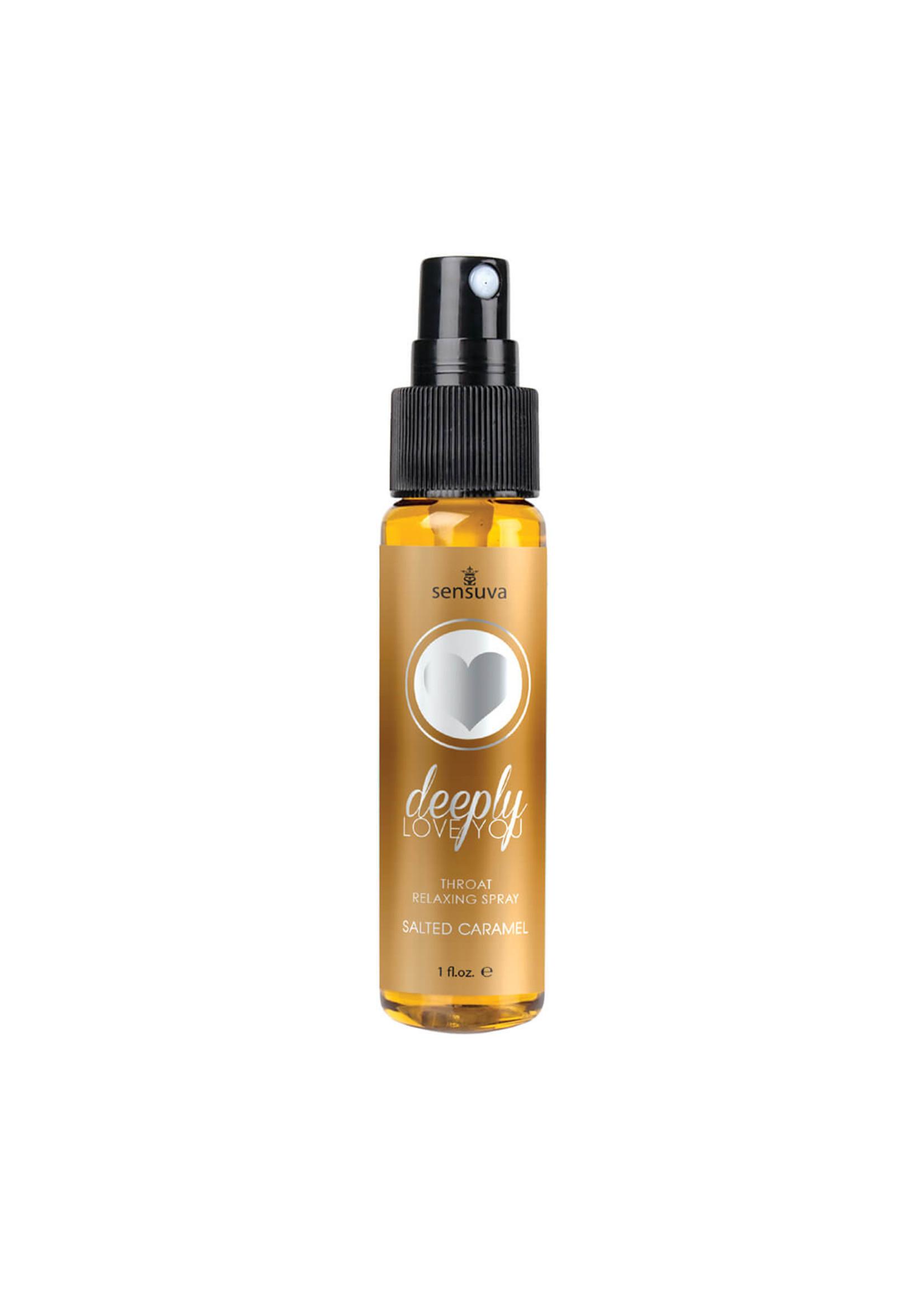 Sensuva Deeply Love You Salted Caramel Throat Relaxing Spray 1 oz.