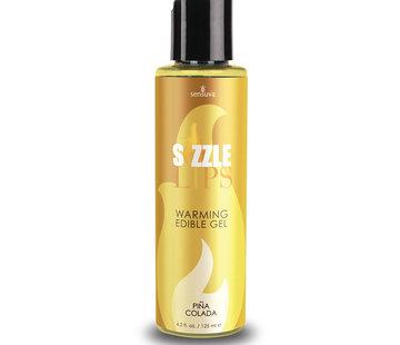 Sensuva Sizzle Lips Piña Colada Warming Gel 4.2 oz.