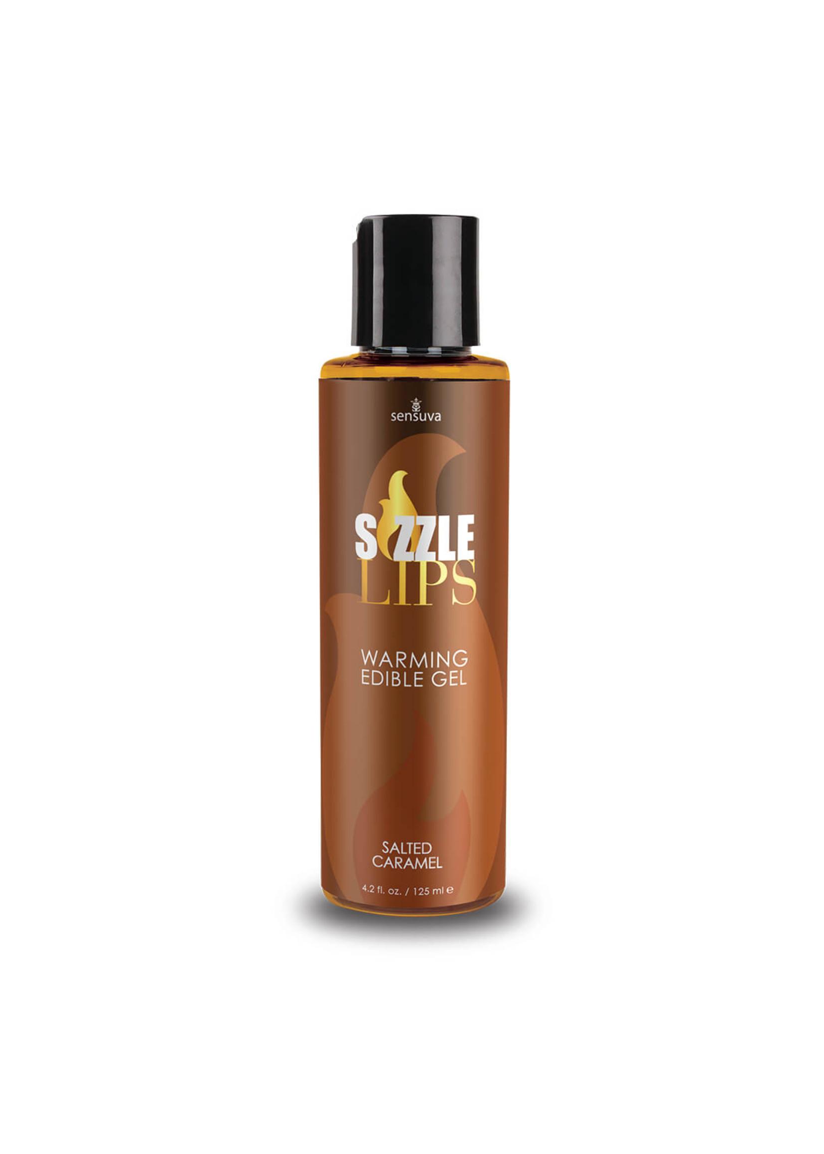 Sensuva Sizzle Lips Salted Caramel Warming Gel 4.2 oz.
