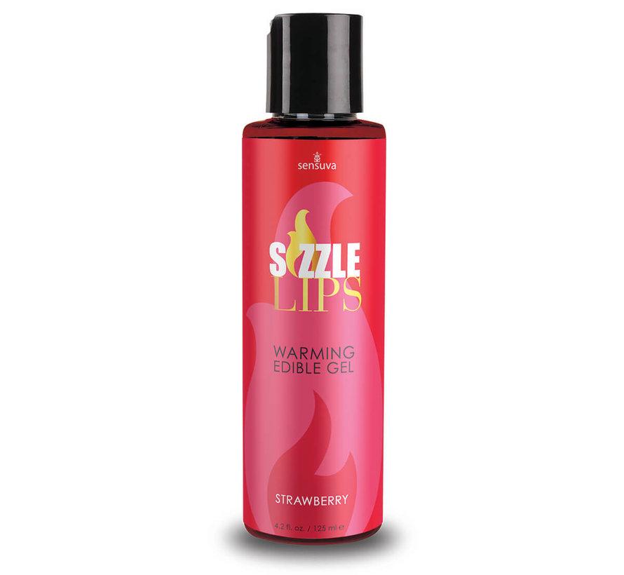 Sizzle Lips Strawberry Warming Gel 4.2 oz.