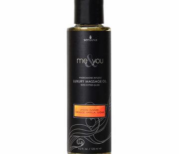 Sensuva Me & You Sugar & Citrus Massage Oil 4.2 oz.