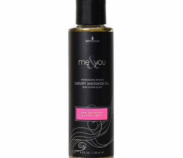 Sensuva Me & You Grapefruit & Vanilla Bean Massage Oil 4.2 oz.