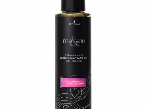 Sensuva Me & You Pomegranate, Fig, Coconut & Plumeria Massage Oil 4.2 oz.