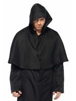 Leg Avenue Men's Plague Doctor Black Hooded Cloak