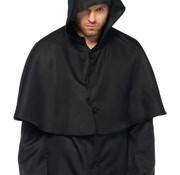 Leg Avenue Men's Plague Doctor Black Hooded Cloak
