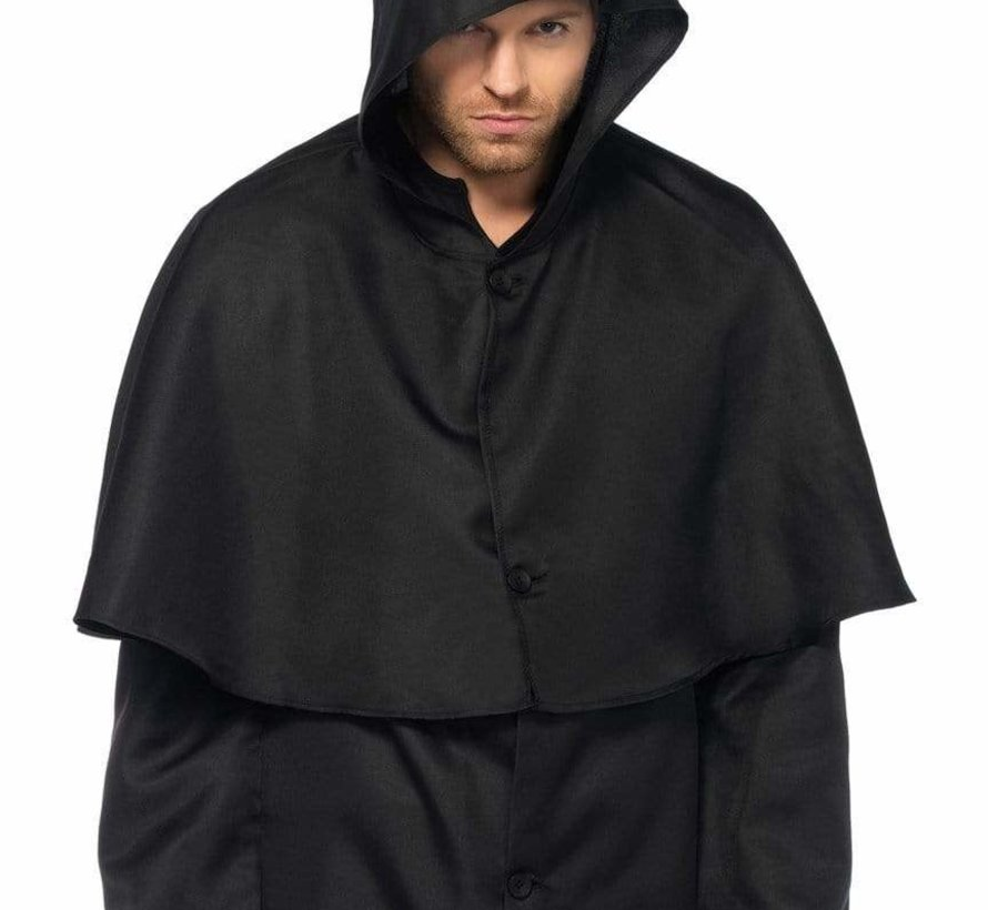 Men's Plague Doctor Black Hooded Cloak
